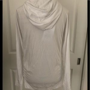 Fabletics Tops - Fabletics brand women's white hooded pullover. NWT